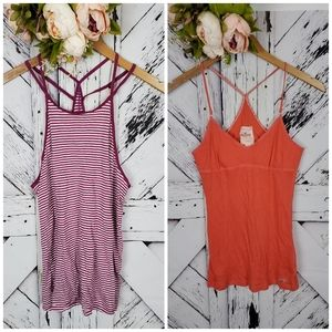 Hollister 2 strappy tank tops M